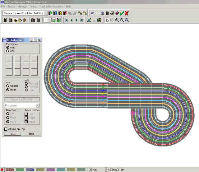 The track layout designer